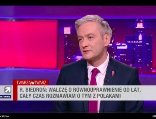 Robert Biedroń: płód nie jest człowiekiem