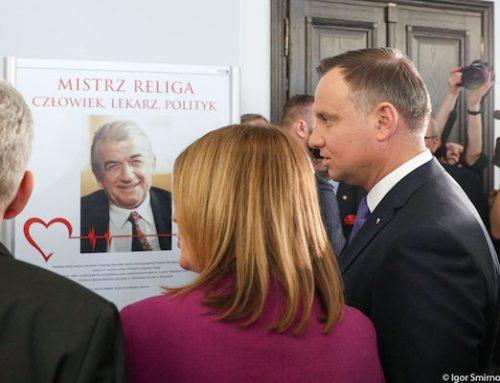 Prezydent Duda: Zbigniew Religa był wielbicielem człowieka i życia