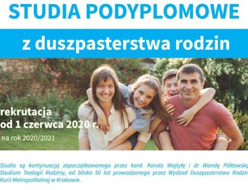 Ruszyła rekrutacja na podyplomowe studia z duszpasterstwa rodzin na UPJPII w Krakowie